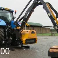 Montering af McConnel hegnsklipper på traktor