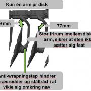KUHN Optimer XL diske og diskarme
